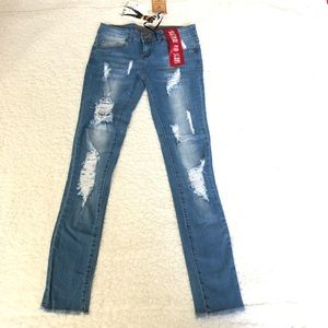 Vip jeans skinny and distressed jeans